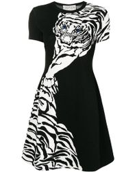 Valentino - Tiger Motif Dress - Lyst
