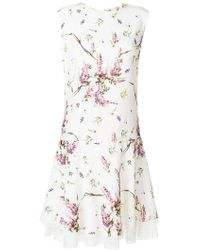 Ermanno Scervino - Floral Print Lace Hem Dress - Lyst