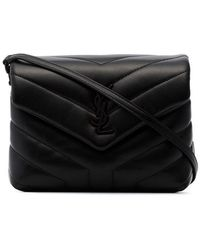 97b8f33907 Lyst - Saint Laurent Toy Anita Fringed Suede Cross-Body Bag in Black