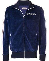 Palm Angels Logo Stripe Zip Track Jacket