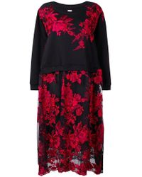 Antonio Marras - Floral Embroidered Jumper Dress - Lyst