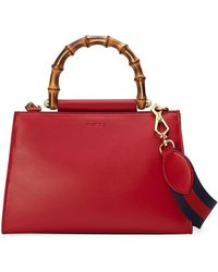 Gucci - Nymphaea Leather Top Handle Bag - Lyst