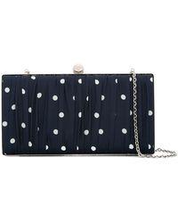 we11done - Dot Print Chain Clutch Bag - Lyst