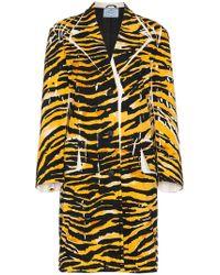 Prada - Abrigo con estampado de leopardo - Lyst