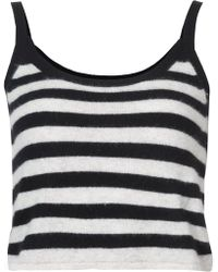 Morgan Lane - Cashmere Alice Striped Tank Top - Lyst