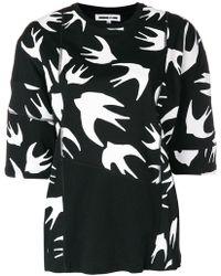 McQ - Birds Printed T-shirt - Lyst