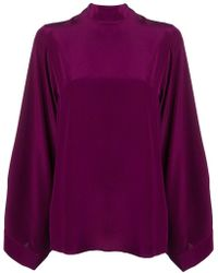 Erika Cavallini Semi Couture - Back Bow Tie Blouse - Lyst