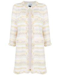 Edward Achour Paris - Striped Tweed Coat - Lyst