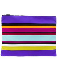 NO KA 'OI - Striped Clutch - Lyst