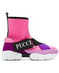 Emilio Pucci - City Hi-top Sneakers - Lyst