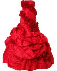 Rubin Singer | Rose Applique Gown | Lyst