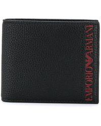 Emporio Armani - Logo Bifold Wallet - Lyst