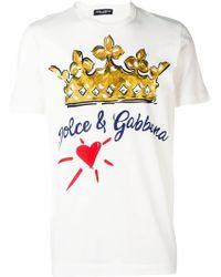Dolce & Gabbana - Cotton T-shirt With Print - Lyst