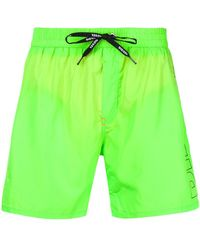 DIESEL - Drawstring Waist Beach Shorts - Lyst