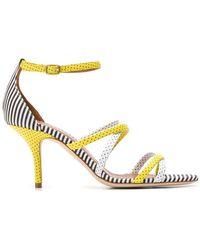 b0f35ae6d173 Dolce   Gabbana Polka Dot Wedge Sandals in Black - Lyst