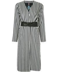 Guild Prime - Striped Belted Coat - Lyst