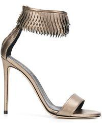 Grey Mer - Fringed Ankle Strap Sandals - Lyst