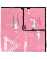Karl Lagerfeld - Choupette Fun Scarf - Lyst
