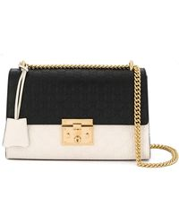 ad5390fb7737 Dolce   Gabbana Mini Padlock Grained Leather Shoulder Bag in Black ...