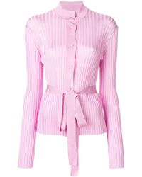 Emilio Pucci   Belted Ribbed-knit Cardigan   Lyst