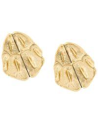 Saint Laurent | Opyum Crocodile Earrings | Lyst