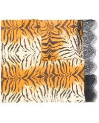 Twin Set - Tiger Stripe Scarf - Lyst