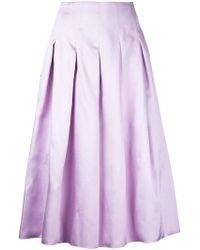 Bambah - Pleated Midi Skirt - Lyst