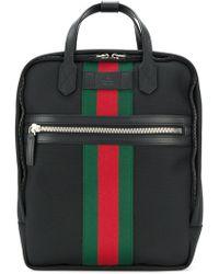 Gucci - Web Embellished Backpack - Lyst