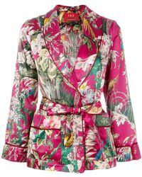 F.R.S For Restless Sleepers - Floral Waist-tied Blazer - Lyst