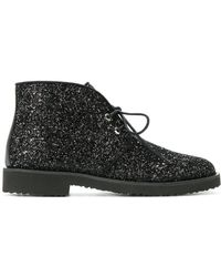 Giuseppe Zanotti - Glitter Lace-up Desert Boots - Lyst