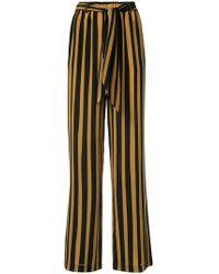 Rockins - Tie Waist Striped Trousers - Lyst