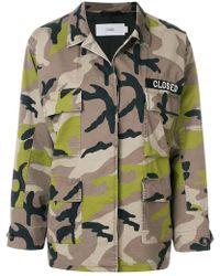 Closed   Camouflage Shirt Jacket   Lyst
