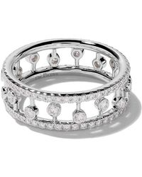 De Beers - 18kt White Gold Dewdrop Diamond Band - Lyst