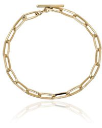 Lizzie Mandler - Yellow Gold Knife Edge Chain Link Bracelet - Lyst
