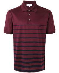 Ferragamo - Gancio Striped Polo Shirt - Lyst