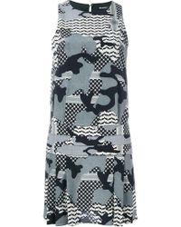 Neil Barrett - Camouflage Print Dress - Lyst