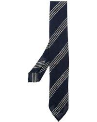 Lardini - Striped Woven Tie - Lyst