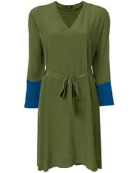 PS by Paul Smith - V-neck Flared Dress - Lyst