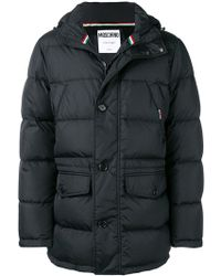 Moschino - Button Padded Coat - Lyst