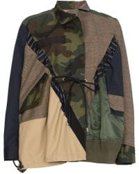 Sacai - Patchwork Jacket With Pockets - Lyst
