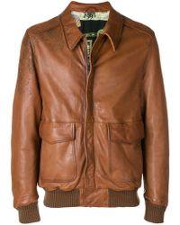 Etro - Leather bomber jacket - Lyst