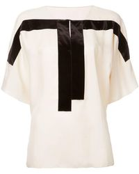 Ms Min - Contrast Panel Blouse - Lyst