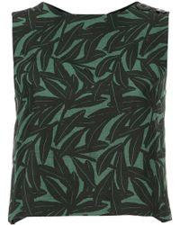 WHIT - Foliage Print Vest Top - Lyst