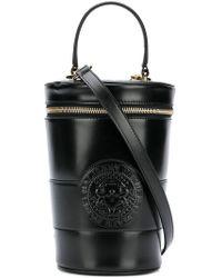 Balmain - Logo Embossed Bucket Bag - Lyst