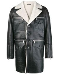 DSquared² - Shearling Lined Coat - Lyst