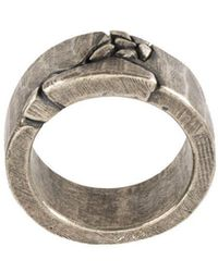 Tobias Wistisen - Embossed Design Ring - Lyst