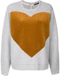 ODEEH - Heart Print Sweatshirt - Lyst