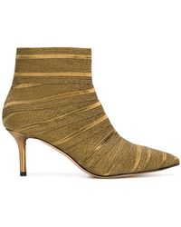 Casadei - Striped Ankle Boots - Lyst