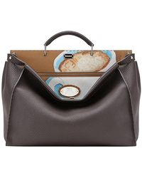 Fendi - Printed Peekaboo Tote Bag - Lyst