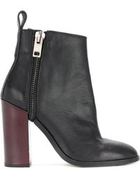 DIESEL - Zip Heeled Ankle Boots - Lyst